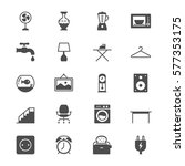 home furniture thin icons | Shutterstock .eps vector #577353175