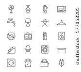 home furniture thin icons | Shutterstock .eps vector #577353205