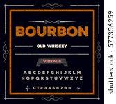 bourbon  handwritten... | Shutterstock .eps vector #577356259