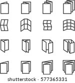 printing icons. folded icons.... | Shutterstock .eps vector #577365331
