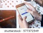 bangkok  thailand   february 12 ...   Shutterstock . vector #577372549