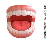 3d rendering of human teeth ... | Shutterstock . vector #577373131