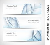 abstract header blue wave white ... | Shutterstock .eps vector #577373221