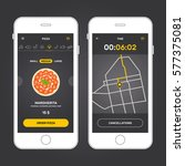 pizza app interface design with ...