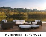 outdoor living area and... | Shutterstock . vector #577379311