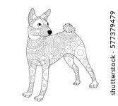 Dog. Zentangle. Stylized Dog....