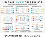 vector circle arrows linear... | Shutterstock .eps vector #577381141