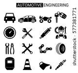 set of automotive engineering... | Shutterstock .eps vector #577381771