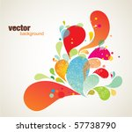 colorful background elements | Shutterstock .eps vector #57738790