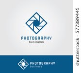 photography logo with square... | Shutterstock .eps vector #577389445