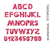 vector alphabet. tape. | Shutterstock .eps vector #577392451