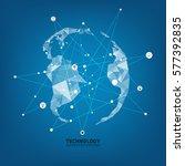 technology network. growth... | Shutterstock .eps vector #577392835