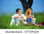 man and woman on picnic | Shutterstock . vector #57739324