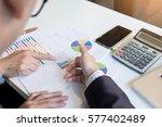 teamwork process. young...   Shutterstock . vector #577402489