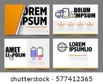 modern template presentation ... | Shutterstock .eps vector #577412365