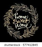 hand lettering typography... | Shutterstock .eps vector #577412845