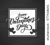 vector illustration  romantic... | Shutterstock .eps vector #577418641