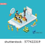 isometric teamwork and...   Shutterstock .eps vector #577422319