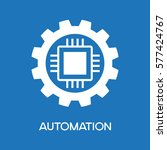 automatic process icon. gear... | Shutterstock .eps vector #577424767