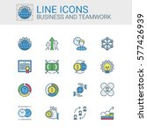 simple icons set of business... | Shutterstock .eps vector #577426939