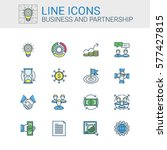 simple icons set of business... | Shutterstock .eps vector #577427815