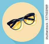 vector summer glasses icon.... | Shutterstock .eps vector #577433989