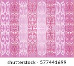 illustration with pink curled... | Shutterstock .eps vector #577441699