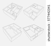 3d Linear Vector Apartment And...