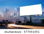 double exposure of blank... | Shutterstock . vector #577451551