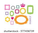 set of cartoon picture frames... | Shutterstock .eps vector #577458739