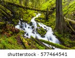 cascade waterfalls in oregon... | Shutterstock . vector #577464541