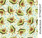 avocado seamless vector pattern.... | Shutterstock .eps vector #577465147