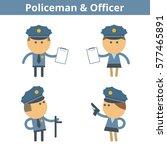 occupations cartoon character...   Shutterstock .eps vector #577465891