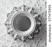 3d render  white abstract frame ...   Shutterstock . vector #577475905