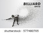 billiards of particles.... | Shutterstock .eps vector #577480705