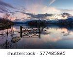 Dusk Sunset At Derwentwater In...