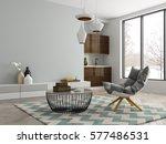 interior modern design room 3d... | Shutterstock . vector #577486531