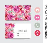 business card template  design... | Shutterstock .eps vector #577499461