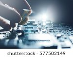 electronic engineer of computer ... | Shutterstock . vector #577502149