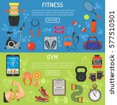 fitness  gym  cardio  healthy... | Shutterstock .eps vector #577510501