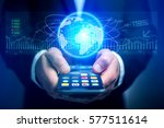 view of a trading data... | Shutterstock . vector #577511614