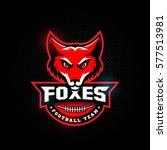 fox mascot for a football team... | Shutterstock .eps vector #577513981