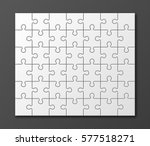 a lot of piece flat puzzle... | Shutterstock .eps vector #577518271