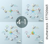 set of four modern infographic... | Shutterstock .eps vector #577520665