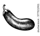 sketch vegetable aubergine.... | Shutterstock . vector #577521901