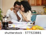 young african family undergoing ... | Shutterstock . vector #577523881