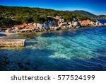 sardinia capo caccia  cala... | Shutterstock . vector #577524199