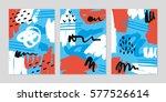 artistic brush pattern set.... | Shutterstock .eps vector #577526614