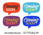 coming soon  handwritten text ...   Shutterstock .eps vector #577528129