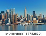 manhattan skyline with empire... | Shutterstock . vector #57752830